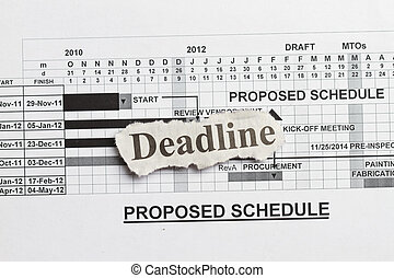 Deadlines and submission
