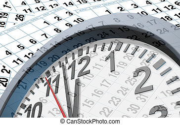 Deadlines and time symbol with calendar pages representing...