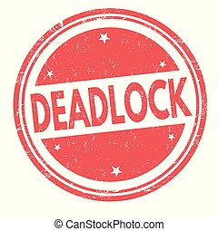 Deadlock sign or stamp on white background, vector...