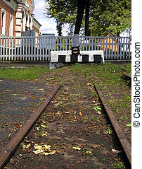 Deadlock - The end of the railway deadlock, to the back...