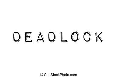 Deadlock typographic stamp - Deadlock. Typographic stamp...