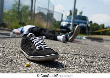 Deadly car crash - Close-up of a deadly car crash,...