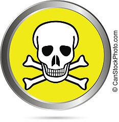 Deadly danger sign button