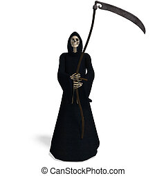 Deadly reaper - 3D rendering of the deadly reaper with...