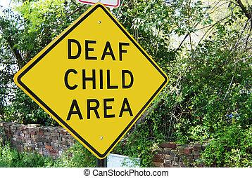 """Deaf Child traffic sign - Traffic sign reading """"Deaf Child"""""""