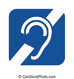 Deafness symbol icon