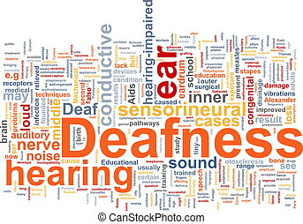 Deafness word cloud - Word cloud concept illustration of ...