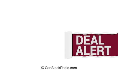 Deal Alert Sign Concept shot clip