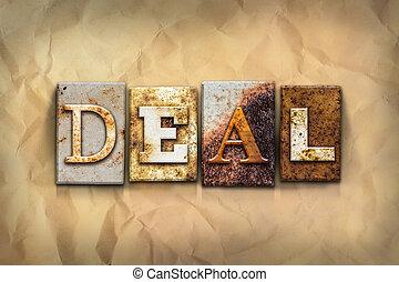 Deal Concept Letterpress Theme