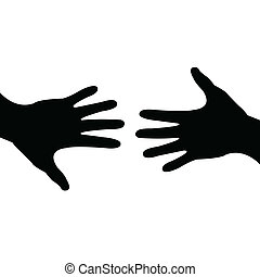 deal done, helping hand - Illustration of a hand reaching...