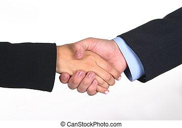 Deal I - Hand shake closing a deal