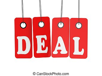 Deal label - Rendered artwork with white background