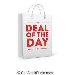 Deal of the day, shopping bag vector illustration - Deal of...