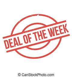 Deal Of The Week rubber stamp