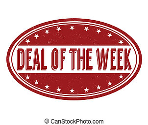 Deal of the week stamp - Deal of the week grunge rubber ...