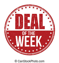 Deal of the week stamp - Deal of the week grunge rubber...