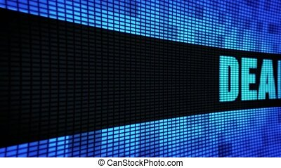 Deal Side Text Scrolling LED Wall Pannel Display Sign Board
