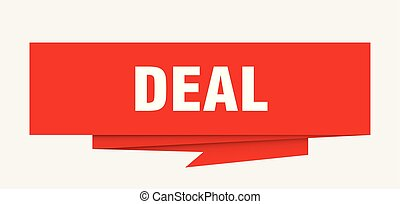 deal sign. deal paper origami speech bubble. deal tag. deal...