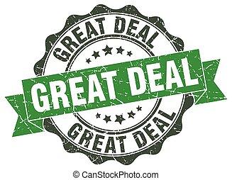 deal, stamp., tegn., lukke op, great