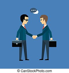 Deal, two businessmen shaking hands
