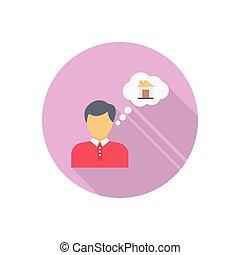 dealer  flat color icon