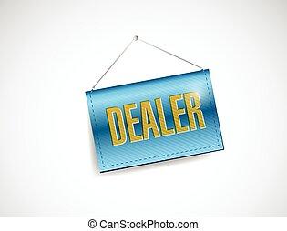 dealer hanging banner illustration design
