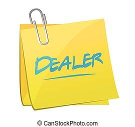 dealer post memo illustration design
