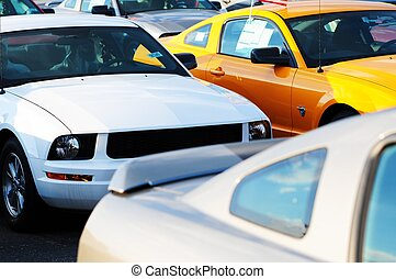 Dealership Stock - Sport Cars. Dealership Stock Parking....