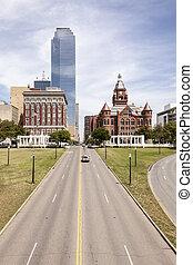 Dealey Plaza in Dallas, Texas, USA
