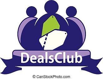 Deals Club Logo Design Template Vector