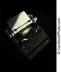Dear Blog - Artistically lit moody retro typewriter. This is...