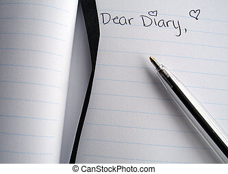 Dear Diary with Pen - Dear Diary straight on with Pen