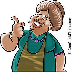 Dear grandmother - Mather ou grandmother looking like a good...