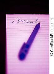 Dear Love - Notepad