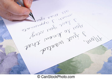 Dear Mom - Writing a letter to Mommie