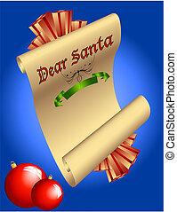 Dear Santa Christmas list