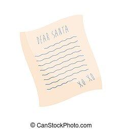 Dear Santa Christmas wish letter