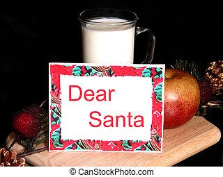 Dear Santa - For today's health conscious santa, we offer ...