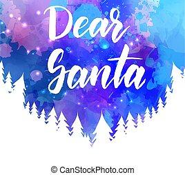 Dear Santa holiday background