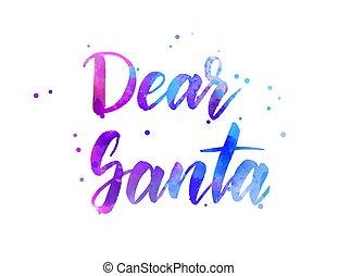 Dear Santa - holiday lettering