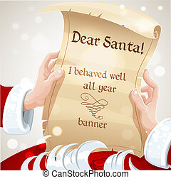 Dear Santa I behaved well - Dear Santa I behaved well banner...