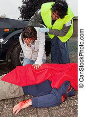 Death after car crash
