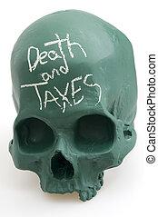 Death and Taxes on Skull