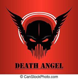 death angel - winged black mask. black masked face. Suitable...