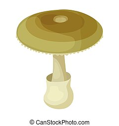 Death cap vector icon.Cartoon vector icon isolated on white ...