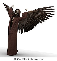 death - angel of death in his unique pose and expression