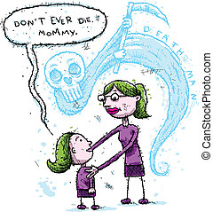 Death Fear - A little girl expresses her fear of the shadow...