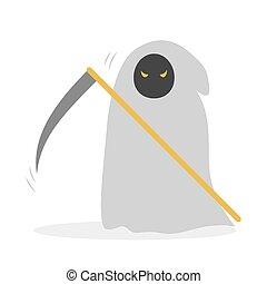 Death icon. Halloween costume, spooky halloween character