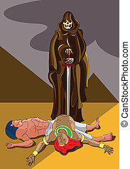 Death in Egypt - The death angel killed two first-borns of...