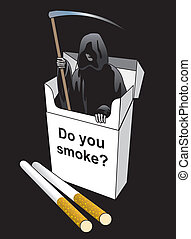 Death inside a cigarette pack.